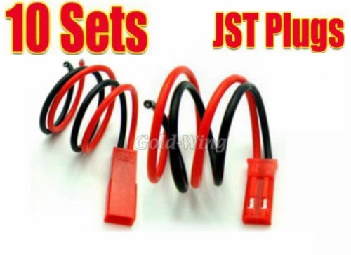 10 pairs JST Plug Connector RC Lipo Battery Male/Female (Jst Connector Plug compare prices)