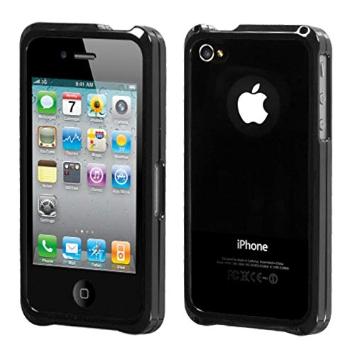 Insten Metal Aluminum [Anti-Shock] Bumper Case Cover Compatible with Apple iPhone 4/4S, Black