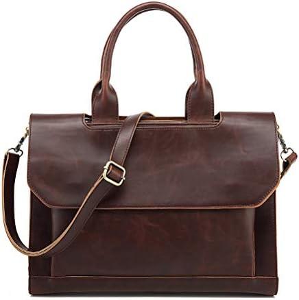 男性の革ポータブルブリーフケースビジネスメッセンジャーバッグ