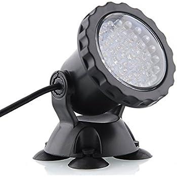 Deckey Waterproof 36 LED Submersible Spotlight Landscape Lamp for Aquarium Fish Tank, Garden Fountain, Pond Pool (Blue)