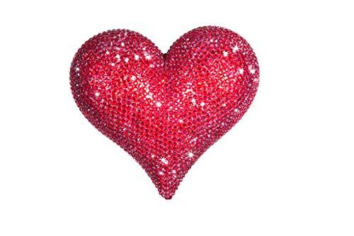 - Interior Illusions Plus II00109 Rhinestone Heart Figurine, Red