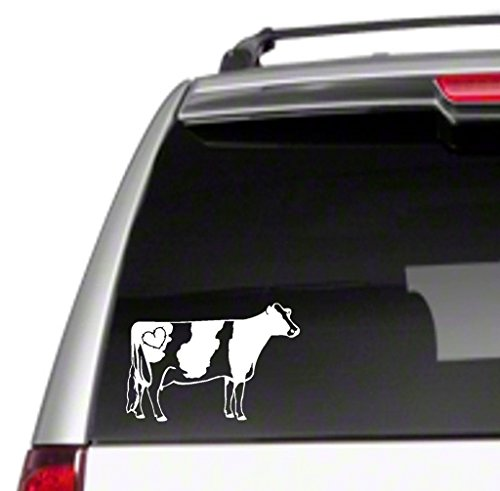"""Love Dairy Cows Car Vinyl Sticker Decal 6"""" cattle milk holstein I jersey 4H FFA *J15*"""