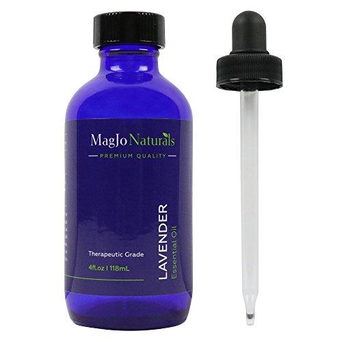 MagJo Naturals 100% Pure Lavender Essential Oil, Therapeutic Grade, 4 Ounces