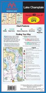Maptech WPC049-03 Wpcht 49 Lake Champlain by Maptech