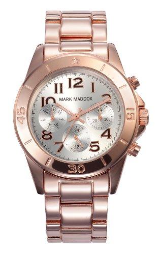 Mark Maddox MM3006-05 - Reloj de Cuarzo para Mujer, Correa de Otros Materiales Color Oro Rosa: Amazon.es: Relojes