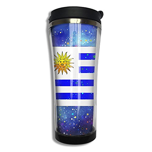 Uruguay Flag Starry Flag Travel Cup Mug Coffee Cup Tumbler Travel Stainless Steel Thermos(420 Ml 10.6 Oz)
