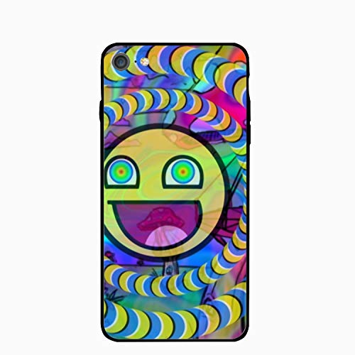 iPhone 6S Plus Case/iPhone 6 Case, Visaul Trippy Pics Printed Clear Design Case with TPU Bumper Protective Case Cover for iPhone 6/6S -