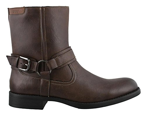 (RW by Robert Wayne  Men's Conroy Motorcycle Boot, dark brown, 11 D US)
