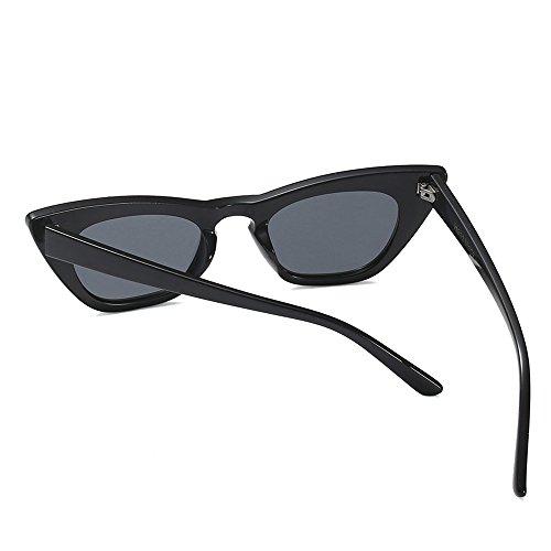 Sexy Sunglasses TL Gato Gato Ojo Gafas para Gafas Retro Mujeres de Ojo Mujeres Verano de UV400 Pequeño para Leopardo Negro Sol de de rEddAR