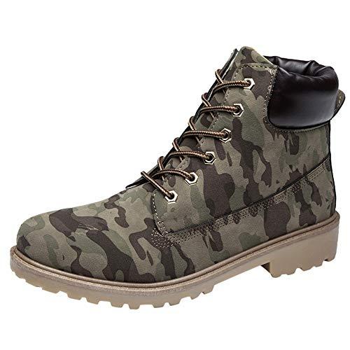 Lacets À Kinlene Camouflage Waterproof Hiver Coton Bottes En Chaussures Bottines Femme Boots Randonnée Plus Plates De Martin xAFq0f