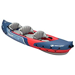 Sevylor Kayak Gonflable Tahiti Plus, Canoë Canadien 2+1 Personnes, Kayak de Mer