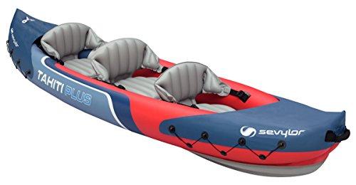 Sevylor Tahiti Plus 2+1 Man Canadian Canoe Inflatable Sea Kayak, 361 x 90...