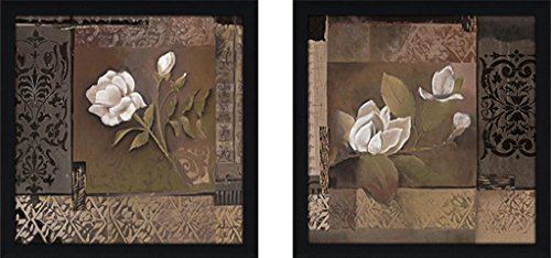 Twins Framed Print Set - Art Sets of 2 Twin Set Matching Glass Framed Free Shpping Made in North America by FramedCanvasArt