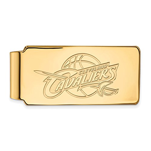 NBA Cleveland Cavs Money Clip in 10K Yellow Gold by LogoArt