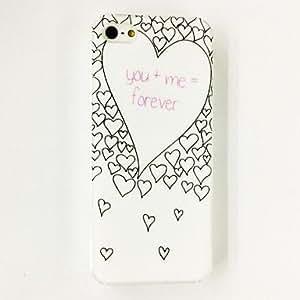 Mini - Love Heart Pattern Plastic Hard Case for iPhone 5/5S , Color: Multicolor