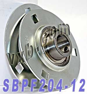 "NEW SBPF205-16 High Quality 1/"" Set Screw Pressed Steel 3-Bolt Flange Bearing"