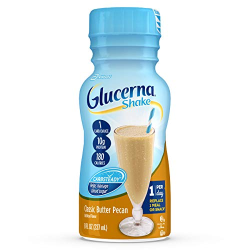 Glucerna, Diabetes Nutritional Shake, To Help Manage Blood Sugar, Classic Butter Pecan, 8 fl oz (Pack of ()