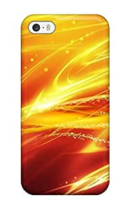 Hot Tpye Beautiful Fire Football Free Case Cover For Iphone 5/5s