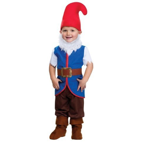 Palmer Little Boys' Toddler Gnome Dwarf Elf Hat Halloween Fancy Dres Costume Outfit (3-4 Years) Multicolor for $<!---->