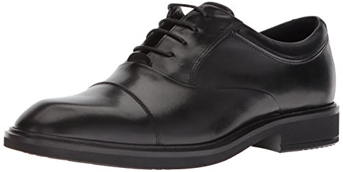 ECCO Men's Vitrus II Tie Oxford, Black Cap Toe, 44 M EU (10-10.5 (Ecco Cap Toe Cap)