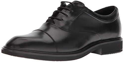 Men Tie Dress Shoes (ECCO Men's Vitrus II Tie Oxford, Black Cap Toe, 45 M EU (11-11.5 US))