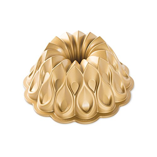 Nordic Ware 91777 Crown Bundt Pan, One Size, Gold