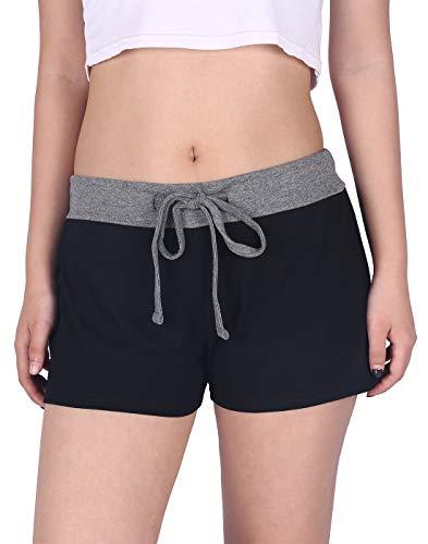 3 Sweatpants - HDE Black Shorts for Women Yoga Shorts Workout Bottoms Sleepwear for Women, 3X