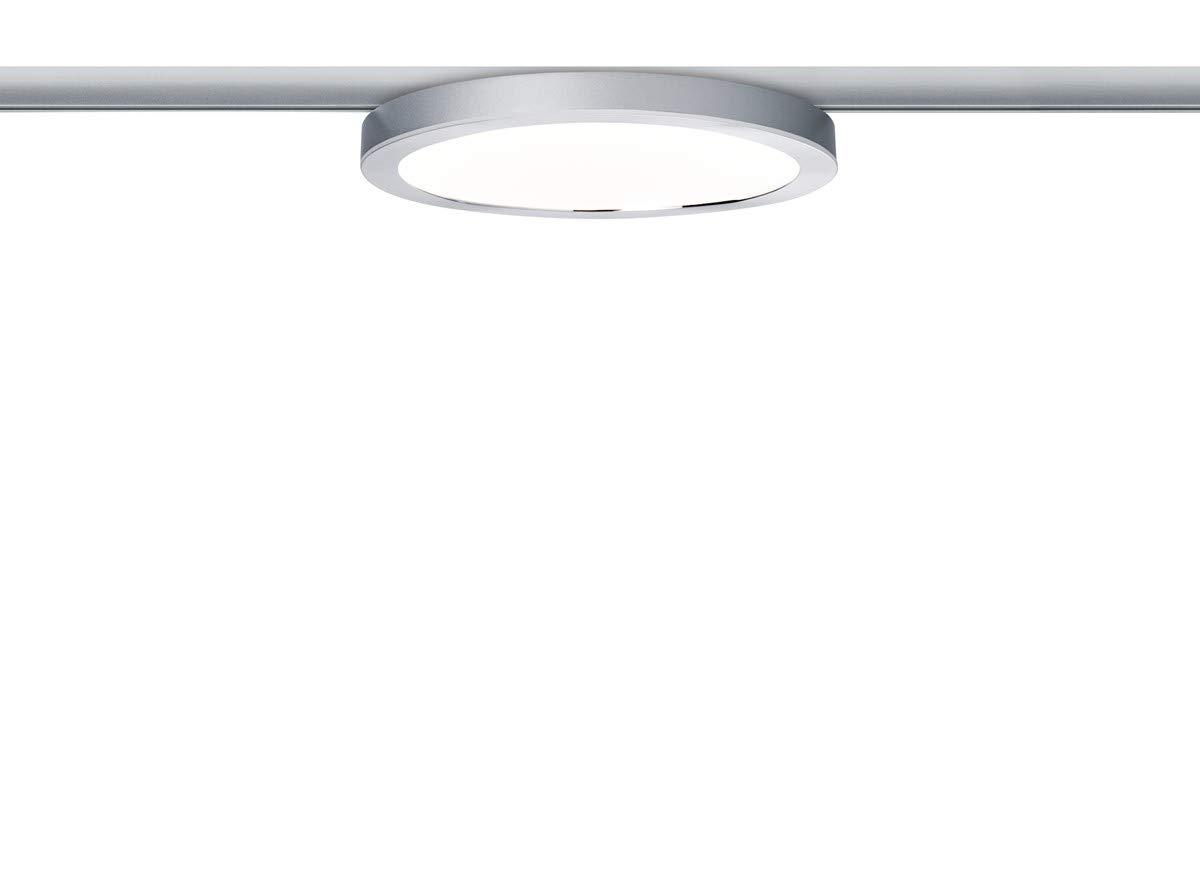 Paulmann LED URail System LED Panel Ring 7W Chrom matt Chrom 230V Alu Kunststoff   LEDs fest verbaut 7W 812lm warmweiß   953.15
