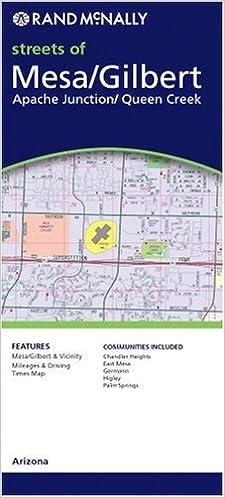 Map Of Arizona Cities Queen Creek.Rand Mcnally Mesa Tempe Arizona Local Map Rand Mcnally City Maps