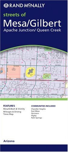 Rand McNally Mesa/Tempe Arizona Local Map (Rand McNally City Maps)