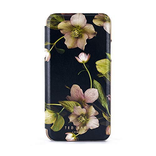 (Ted Baker Fashion Mirror Folio Case for iPhone Xs Max, Protective Cover iPhone Xs Max for Professional Women/Girls - Arboretum)