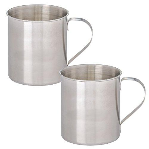 - Thirsty Rhino Seles, Stainless Steel Moscow Mule Mug, Brushed Silver Finish, 12 oz (Set of 2)
