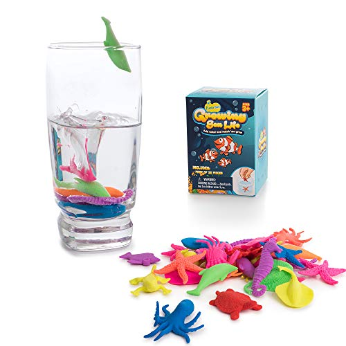 Water Growing Sea Creatures Animals| 32 Pack | Expandable Oceanic Under The Sea Animals | Fun in The Bathtub | Party Supplies Favors | Educational & Learning Toy for Toddlers Children Boys & Girls -