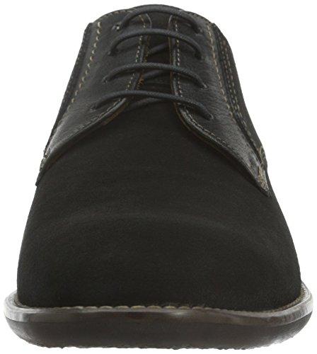 Lloyd Hampton, Zapatos de Cordones Derby para Hombre Negro - Schwarz (Schwarz 0)