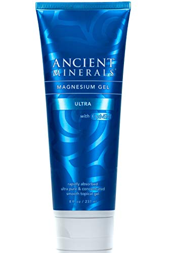 Ancient Minerals Magnesium Gel Ultra with OptiMSM and Aloe Vera - Topical Magnesium Gel Formula with MSM Best Used for Dermal Skin Absorption and Massage Therapy ()