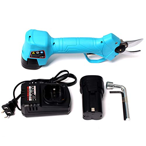 OlogyMart 16.8V Rechargeable Electric Cordless Secateur Branch Cutter Pruning Shears Sharp Cutting Tool