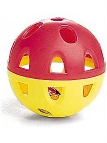 Ethical Jumbo Neon Ball with Bell Cat Toy, 2-1/2-Inch, My Pet Supplies