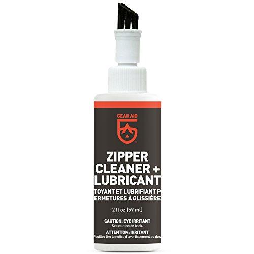 Gear Aid Zipper Cleaner & Lubricant with Zipper Teeth Brush Gear Repair Kit, Clear, 2 oz