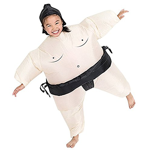 Inflatable Sumo Wrestling Costumes (Wecloth Inflatable Suit Wrestler Wrestling Suits Colorful Sumo Inflatable Costume BodySuit for Adult Child)