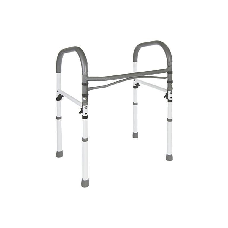 Deluxe Bathroom Safety Toilet Rail – Adjustable Handrail Assist Grab ...