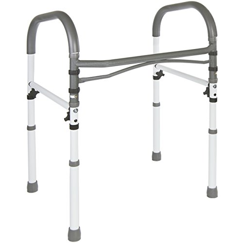 Freestanding Leg (Deluxe Bathroom Safety Toilet Rail - Adjustable Handrail Assist Grab Bar)