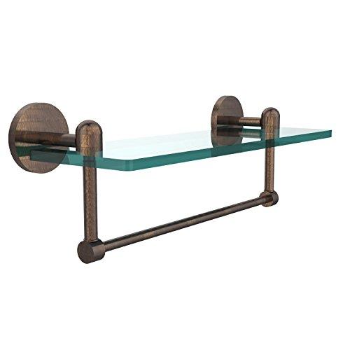 Review Allied Brass TA-1TB/16-VB Glass Shelf with Towel Bar, 16-Inch x By Allied Brass by Allied Brass