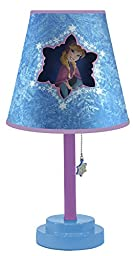 Disney Frozen Table Lamp with Die Cut Lamp Shade with CFL Bulb