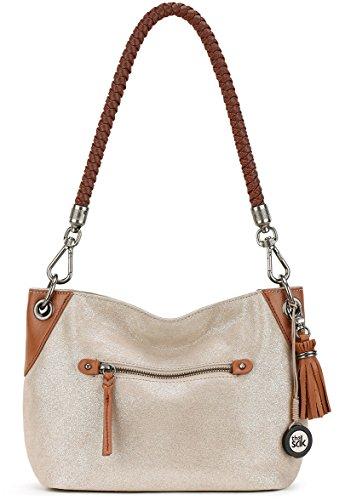 The Sak Women's Indio Leather Demi Nude Sparkle Handbag ()