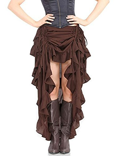 Halloween Gothic Pirate Dress Steampunk Cocktail Party Skirts