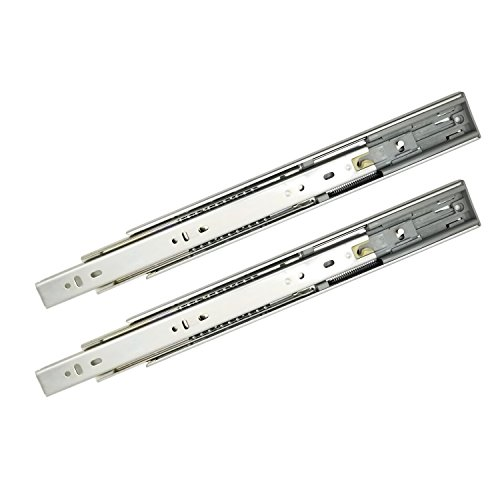 Softclose Full Extension - DGQ 12-Inch Ball Bearing Drawer Slides - Soft-Close Drawer Slide Pair of Full Extension - 100 Pound - Side Mount