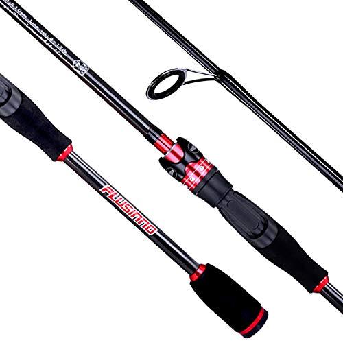 PLUSINNO 2pc Spinning Fishing Rod, Graphite Travel Medium Light Spinning Rods - 6FT Saltwater Freshwater Fishing Rods