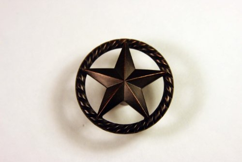 Star Hardware (Western Knob with Raised Star and Rope Detail in Oil Rubbed Bronze)