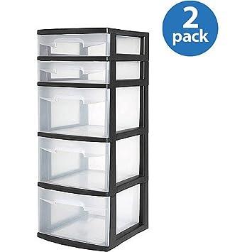 sterilite 5 drawer tower Amazon.com: Sterilite 5 Drawer Narrow Tower, Set of 2: Baby sterilite 5 drawer tower