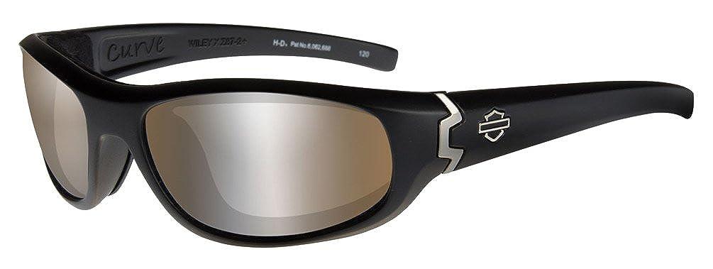 Harley-Davidson Mens Curve PPZ Sunglasses Copper Lens//Black Frame HDCUR07
